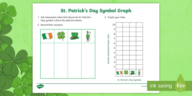 Your Favourite St Patricks Day Symbol Graph Worksheet