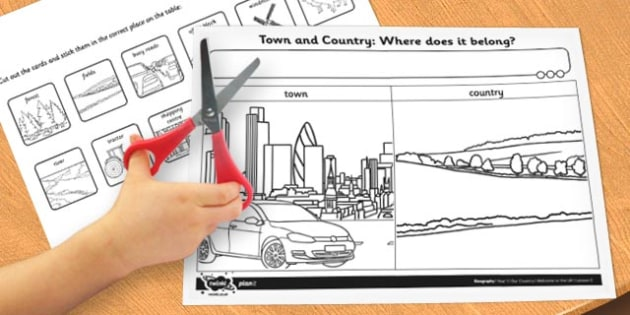 Town and Country Where Does It Belong Worksheet / Activity Sheet - activity, worksheet