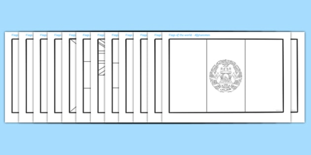 FREE! - Flags Of The World Coloring Sheets (teacher Made)