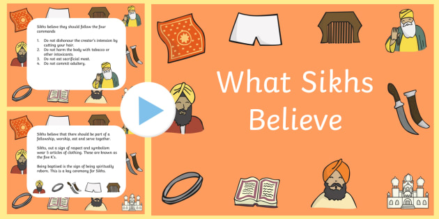 What Sikhs Believe PowerPoint and Worksheet - what sikhs ...