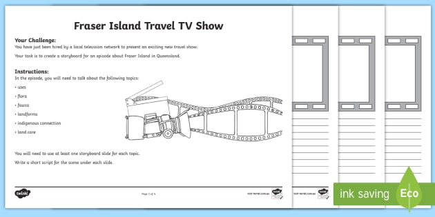 Fraser Island Tv Storyboard Template Achassk066 Geography