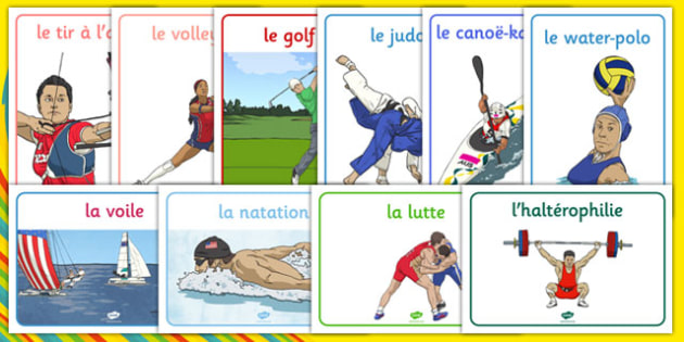 Rio 2016 Olympics Sport Posters French - french, Olympics, Olympic Games, sports, Olympic, London, 2012, display, banner, poster, sign, Olympic torch, flag, countries, medal, Olympic Rings, mascots, flame, compete, tennis, athlete, swimming, race