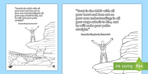 Proverbs 3 5 6 Mindfulness Coloring Page Teacher Made