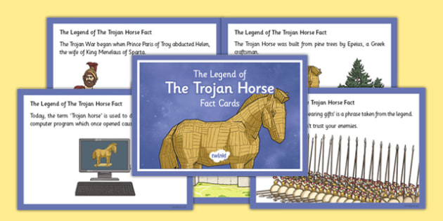 The Legend of the Trojan Horse Fact Cards