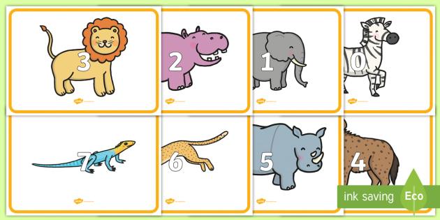 0 to 10 Display Numbers on Safari Animals - safari, on safari, safari animals, numbers on safari animals, safari animal numbers 0-10 on safari animals