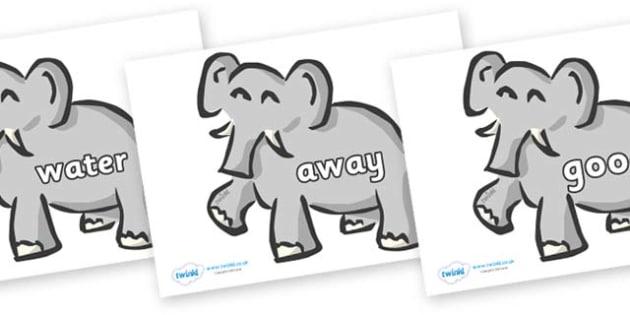 Next 200 Common Words on Elephants - Next 200 Common Words on  - DfES Letters and Sounds, Letters and Sounds, Letters and sounds words, Common words, 200 common words