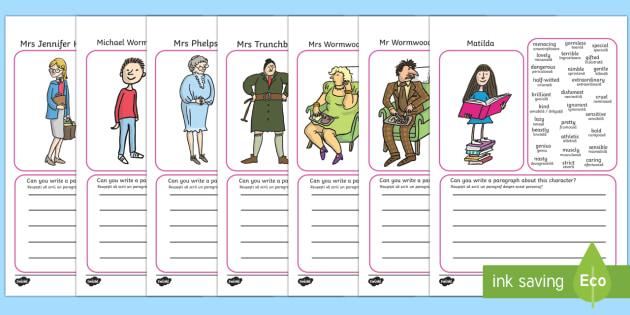 Description Writing Frames to Support Teaching on Matilda English/Romanian