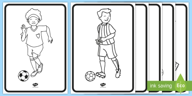 World Cup Football Players Colouring Pages - football