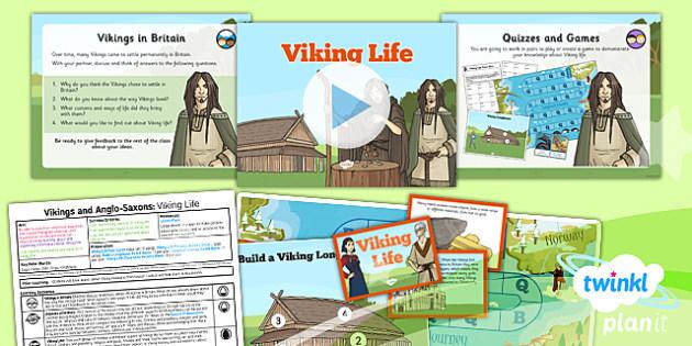 History: Vikings and Anglo-Saxons: Viking Life LKS2 Lesson Pack 4