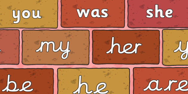 Phase 3 Tricky Words On Bricks - phases, letters, sounds, read