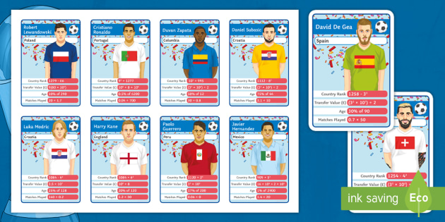 NEW * Maths World Cup Football: Maths Top Card Game - maths
