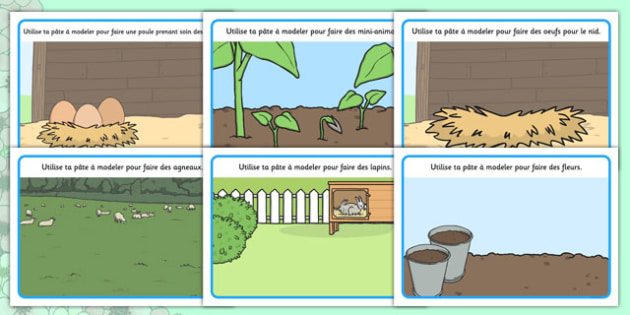 Spring Playdough Mats French -  EAL, translated, season, springtime, science, nature