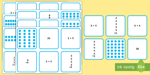 Multiplication Matching Puzzle - multiplication, matching, puzzle, game