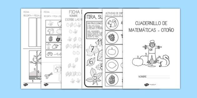 Cuadernillo de matemáticas otoño