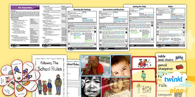 PlanIt - EAL Intervention - Basic Skills: Survival Vocabulary Pack