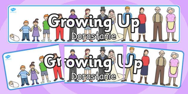 Growing Up Display Banner Polish Translation - polish, display banner, growing up