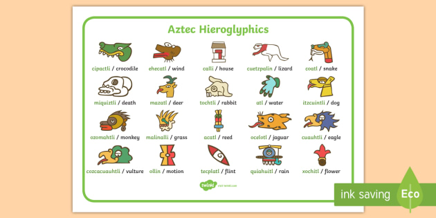 aztec words dictionary