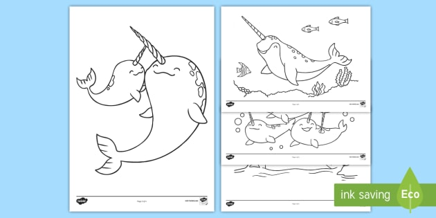 - Narwhal Coloring Pages (teacher Made)