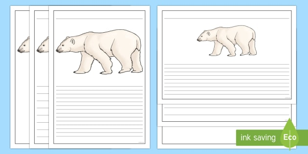Polar Bear Writing Frames - The Arctic, Polar Regions, north pole, south pole, explorers