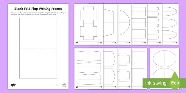 NEW * Blank Fold Flap Writing Template - lapbook, project