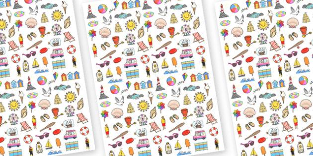 Seaside Themed A4 Sheets - seaside themed sheets, seaside display sheets, seaside image sheets, seaside images, mixed seaside themed images, seaside theme
