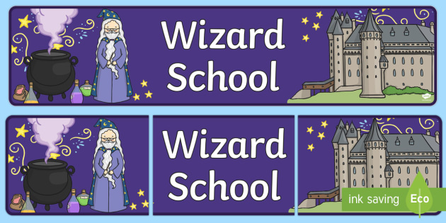 Wizard School Display Banner - banners, displays, poster, visual