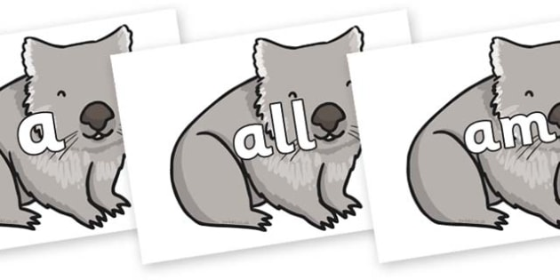 Foundation Stage 2 Keywords on Wombat - FS2, CLL, keywords, Communication language and literacy,  Display, Key words, high frequency words, foundation stage literacy, DfES Letters and Sounds, Letters and Sounds, spelling