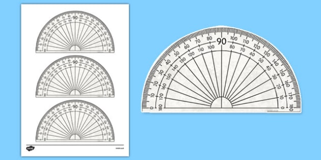 picture about Small Printable Protractor identify 180 Diploma Protractor Printable Math Software