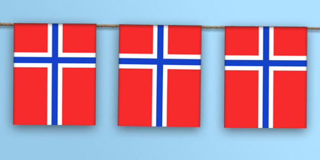 Norway Flag Bunting - norway flag, display bunting, display, bunting, norway, flag