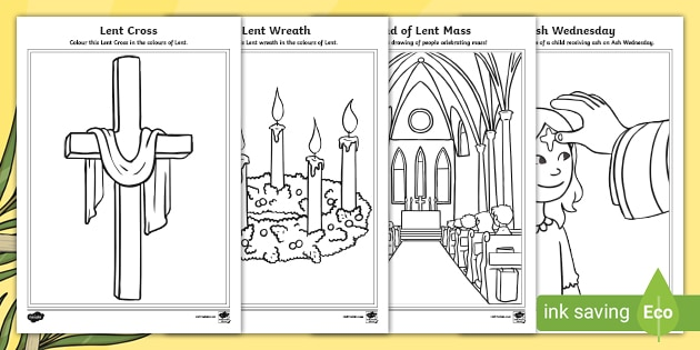 Ash Wednesday Colouring Pack Easter Teaching Resource