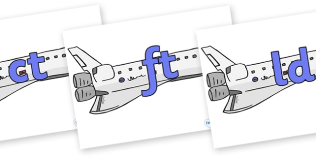 Final Letter Blends on Space Shuttles - Final Letters, final letter, letter blend, letter blends, consonant, consonants, digraph, trigraph, literacy, alphabet, letters, foundation stage literacy