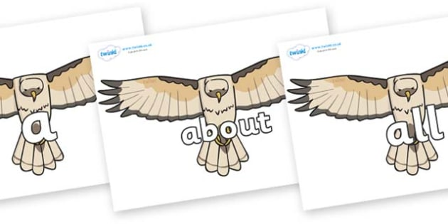100 High Frequency Words on Hawks - High frequency words, hfw, DfES Letters and Sounds, Letters and Sounds, display words