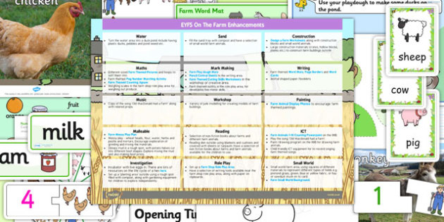 EYFS Farm Enhancement Ideas and Resources Pack - pack, planning