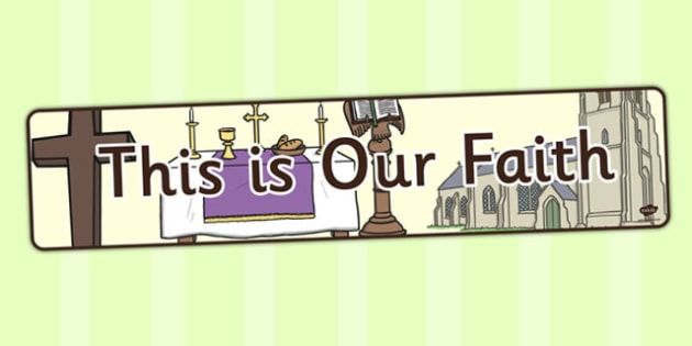 This is Our Faith Display Banner - display banner, display, faith