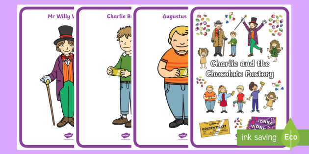 Display Posters to Support Teaching on Charlie and the Chocolate Factory - Charlie and the chocolate factory, charlie and the chocolate factory posters, display posters