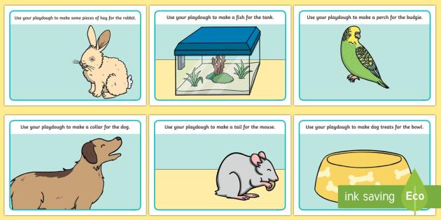 Pets Playdough Mats - Pet, pets, Playdough, mat, cat, dog, rabbit, mouse, guinea pig, rat, hamster, gerbil, horse, puppy, kitten, snake, chinchilla, snail, lizard, budgie