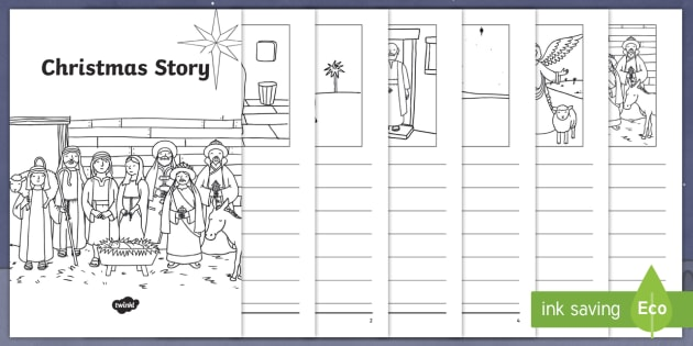 christmas story booklet christmas story sequencing