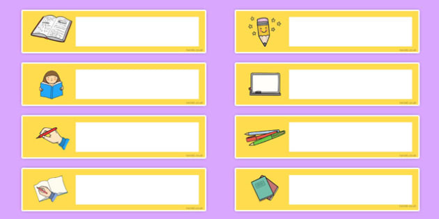 Literacy Themed Editable Gratnells Tray Labels - tray labels