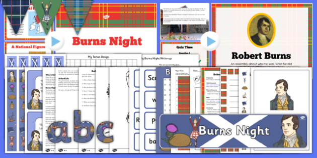 Burns Night Resource Pack - burns, night, resource, pack
