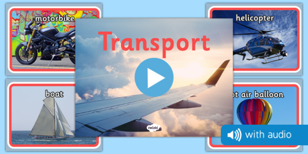 Transport Audio Flashcards - transport, vehicles, photos, images, audio, sounds