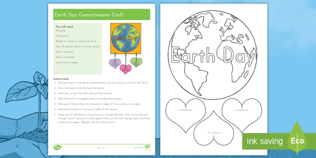 New earth day commitments craft reduce reuse recycle new earth day commitments craft reduce reuse recycle planet ccuart Image collections