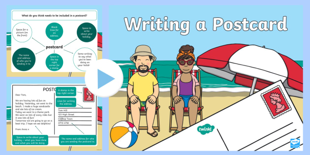 how to write a postcard english lesson