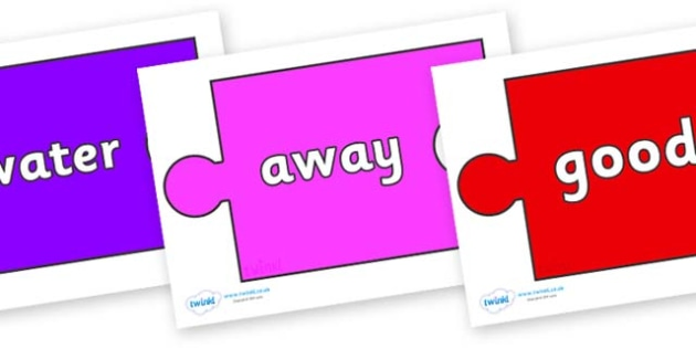 Next 200 Common Words on Jigsaw Pieces - Next 200 Common Words on  - DfES Letters and Sounds, Letters and Sounds, Letters and sounds words, Common words, 200 common words