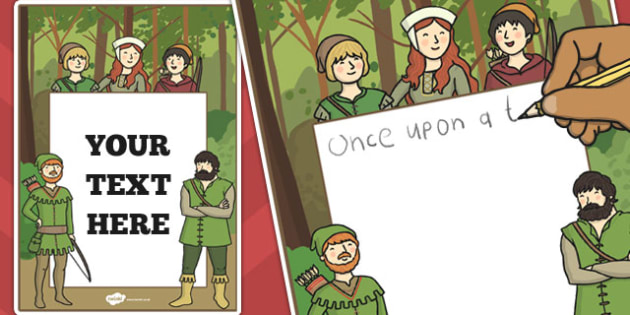 Robin Hood Editable Note - robin hood, editable, note, robin