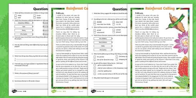 KS2 Fiction Diary Differentiated Reading Comprehension Activity