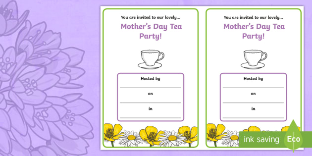 Editable Mother S Day Classroom Party Invitation Cards
