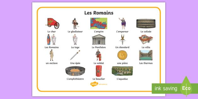 set de vocabulaire   les romains
