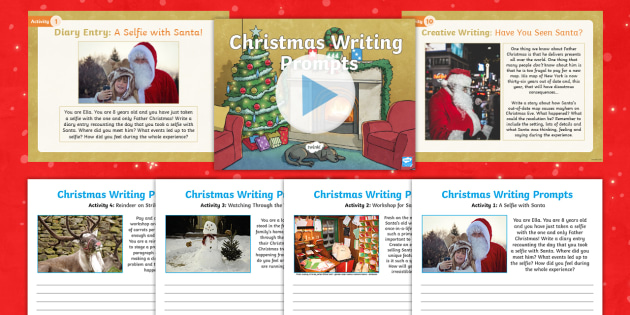 ks2 christmas writing prompts resource pack lks2 uks2 spag writing activity