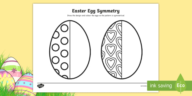 Free Easter Egg Symmetry Sheets Easter Easter Egg Symmetry Maths