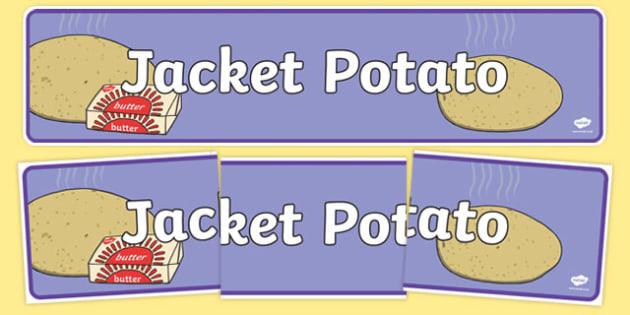Jacket Potato Display Banner - jacket potato, display banner, display, banner